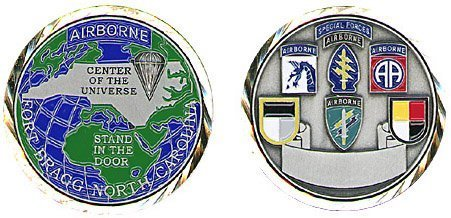 Special Forces Airborne Fort Bragg Air Force Base Challenge Coin by Military Productions