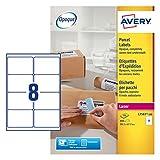 AVERY Zweckform L7165-100 Versand-Etiketten (A4, 800 Stück, 99,1 x 67,7 mm, 100 Blatt) weiß