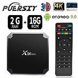 Android 9.0 RAM 2G+16G ROM TV Box X96 Mini Amlogic S905W Quad Core, 4K Ultra HD H.265,HDMI, WiFi Media Player Smart TV Box by Puersit (2G+16G)