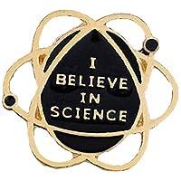 ZZbaixinglongan Stylish I Believe in Science Funny Enamel Pin Badge Nerd Geek Study Science Brooch 1PC for Women & Girls(None Black)