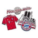 Flaggenfritze Pin FC Bayern München - 3 er Set + gratis Aufkleber