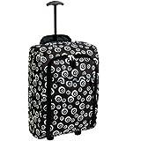 Karabar Super Lightweight Cabin Approved Luggage Bag 55 x 35 x 20 cm, 40 Litres, 1.5 kg, 3 Years Warranty! (Swirls Black)