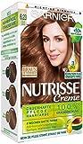 Garnier Nutrisse Creme Coloration Helles Saphir Braun 6.23, Färbung für Haare für permanente Haarfarbe (mit 3 nährenden Ölen) - 3er Pack (3 x 1 Stück)