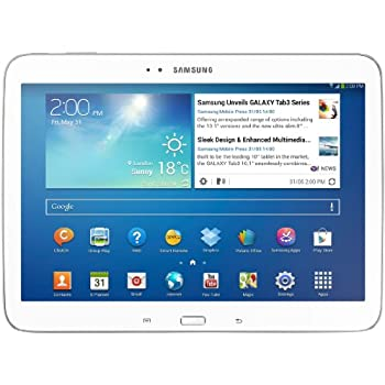 Samsung Galaxy Tab 3 25,7 cm (10,1 Pollici) Tablet (Intel Atom Z2560, 1,6GHz, 1GB RAM, 16GB memoria, 3,2 Megapixel Camera, WiFi, Android 4.2) Bianco [Italia]
