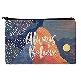 Always Believe Mountain Inspirational Stifte-Organizer mit Reißverschluss