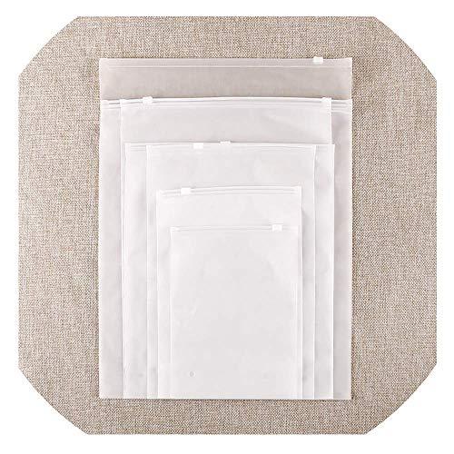Plastiktasche doppelseitige Tasche Transparente Aufbewahrungstasche Reißverschlusstasche Kleidung Tasche Reisetasche Tägliche Verdickung 35cm * 45cm [13,77 Zoll * 17,71 Zoll] 20PCS