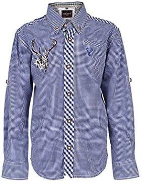Krüger - Kinder Trachten Hemd, Blue Deer in Blau (Artikelnummer: 83103-8)