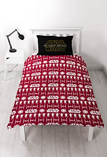 Star Wars Episode 7 Awaken Single Duvet Cover & Pillowcase Set, Multi-Colour, Polycotton