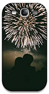 The Racoon Lean Fireworks of Love hard plastic printed back case / cover for Samsung Galaxy S3