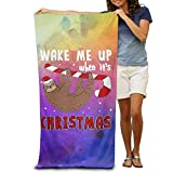 xcvgcxcvasda Funny Bath Towel Sloth Christmas Soft Beach Towel Pool Towel 31.5'x51.2' Quick Dry