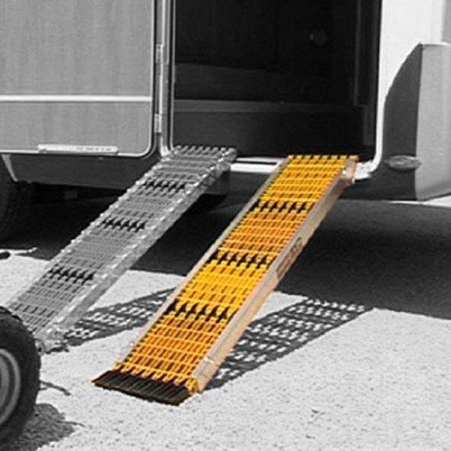 Uniko 6in1 Aluminiumschienen Set Faltrampe Sandboard Traktionshilfe Anfahrhilfe
