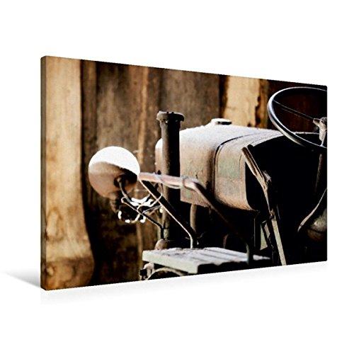 Premium Textil-Leinwand 90 cm x 60 cm quer, Traktor im Ruhestand | Wandbild, Bild auf Keilrahmen, Fertigbild auf echter Leinwand, Leinwanddruck (CALVENDO Kunst) Jahrhunderts Traktoren