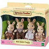 Sylvanian Families - Familia conejos, color blanco (Epoch 3144)