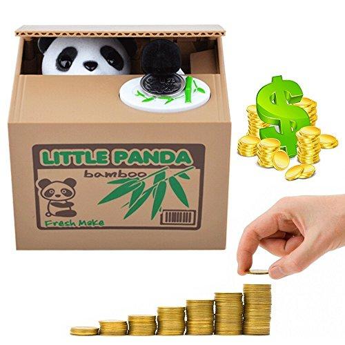 Natural Home Spardose Kinder Gross,Panda Münzen Box Coin Bank