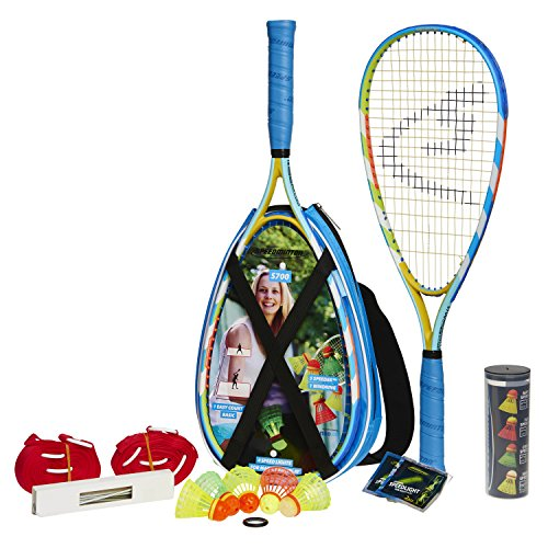 Speedminton® S700 Set – Original Speed Badminton/Crossminton Allround Set inkl. 5 Speeder®, Spielfeld, Tasche