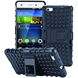 ECENCE HUAWEI P8 LITE OUTDOOR RUGGED HüLLE + PANZERGLAS CASE COVER HYBRID BUMPER SILIKON PANZERFOLIE 12040201