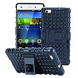 ECENCE Handyhülle Schutzhülle Outdoor Case Cover kompatibel für Huawei P8 Lite (2015) Handytasche Schwarz 24020208