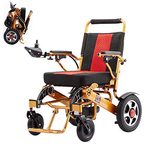RDJM Ultraleichter Faltbarer Elektrischer Rollstuhl, Intelligente Automatische, Frei-Reiten, Elektro-Rollstuhl -