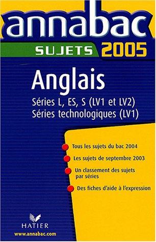 Anglais série L-ES-S LV1 et LV2, série technologique LV1 : Sujets