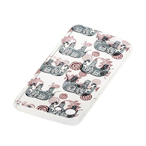 Voguecase Pour Apple iPhone 7 4,7, TPU avec Absorption de Choc, Etui Silicone Souple Transparent, Légère / Ajustement Parfait Coque Shell Housse Cover pour iPhone 7 4,7 (monstre)+ Gratuit stylet l'écr éléphant 10