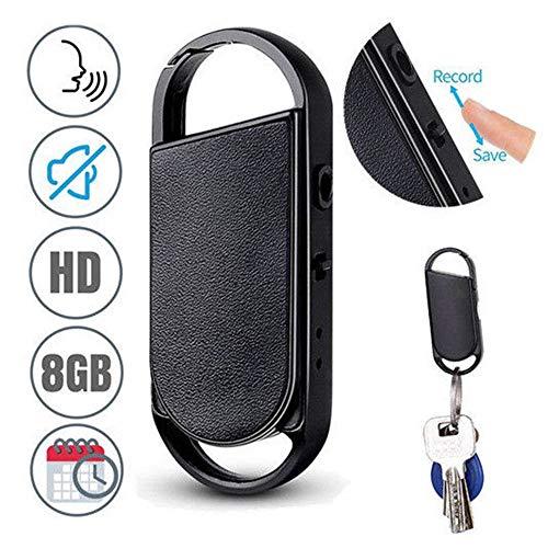 OOFAYWFD 496 Ore 8GB Keychain Audio Spy Mini Voice Recorder Voice Activated Listening