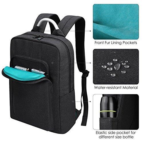 Imagen de  portátiles 15.6, reyleo morrales impermeables laptop backpack para hombre mujer estudiante tipo casual al negocio trabajo casual 19l gris oscuro alternativa