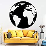 Njuxcnhg Cartoon Karte Erde wandaufkleber Selbstklebende Vinyltapete Kinderzimmer Dekor wasserdichte...
