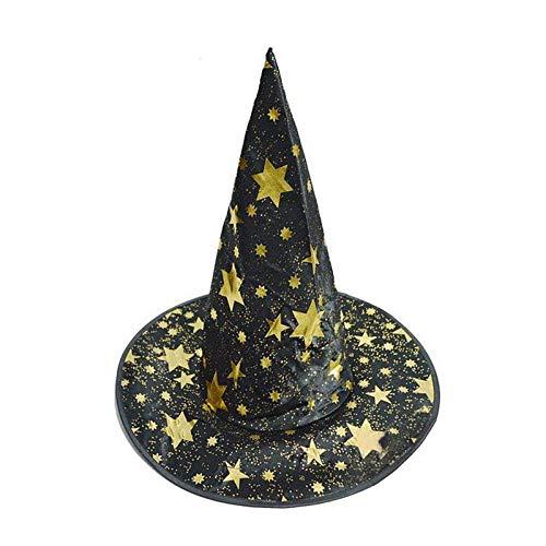 Supplies Party - Creative Halloween Witch Hat Costume Accessory Hexagonal Stars Print Cap Performance Props Party - Supplies Cinderella Princess Unicorn Blaze Mermaid Monster Cowboy Birthday
