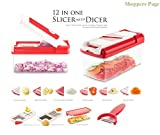 #7: Shoppers Page Alice 12 Iin 1 Premium Super Dicer Vegetables and fruits Slicer, Chipser, Grater, Cutter, peelar and chopper, 1 Piece