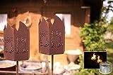 2er-Set - Gartenfackel - Motiv: Eule Wunderschöne Dekoidee zu verwenden als Gartendekoration, Ihr Zuhause oder der Terrasse - Gartenfackel von Manufakt-Design