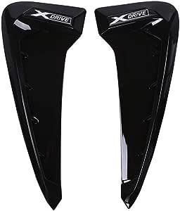 2 X Abs Auto Frontblech Seitenlüftungsabdeckung Für X Serie X5 F15 X5m F85 Shark Gills Seitenschlitz Autoaufkleber Zubehör Schwarzes Xdrive Logo Auto