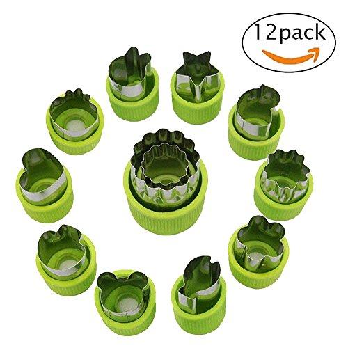 Gemüse Cutter Formen Set, Mini Pie Obst und Cookie Briefmarken Schimmel, Lebensmittel dekorative Schneidwerkzeuge Zubehör