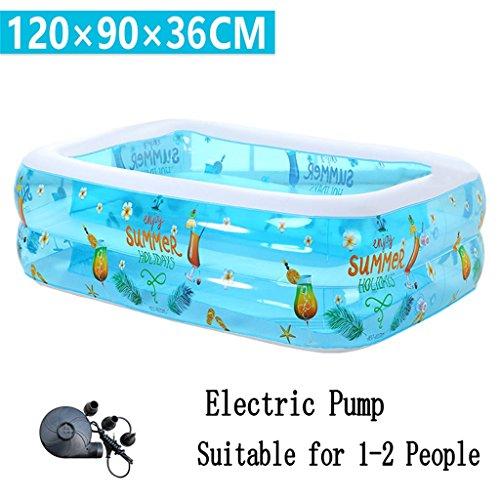 Badewanne Kleine aufblasbare Badewanne / Pool Paddling Pool Meer Ball Pool für Kind / Baby / Familie mit Fuß / Elektrische Pumpe Geeignet für 1-2 Personen (120 * 90 * 36cm) Aufblasbare Badewanne ( ausgabe : Electric Pump ) 3-fuß-aufblasbares Pool