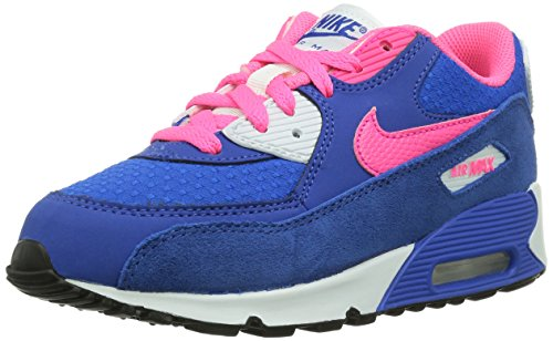 Nike Air Max 90 2007 Ps 345018_Wildleder Unisex-Kinder High-Top Sneaker Blau (Blau)