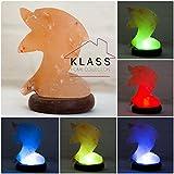 De sal de roca del Himalaya Natural LED Multi Color USB lámpara forma de animales por KLASS Home Collection® (delfín)