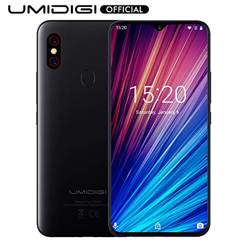 UMIDIGI F1 Play, Smartphone débloqué 4G, Ecran 6.3 Pouces FHD+ 5150 mAh Octa-Core 64 Go ROM 6 Go RAM Android 9.0 Pie Helio P60 AI Caméras 48MP + 8MP Double SIM