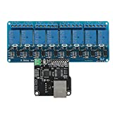 LaDicha Ethernet-Steuermodul Mit 8 Chs Relaiskarte Für Arduino Lan Wan Web-Server Rj45 Android Ios