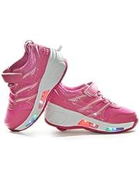 Envio 24H Usay like Zapatillas Con Ruedas Color Rosa X Para Niña Niño Talla 28 hasta 35 Envio Desde España