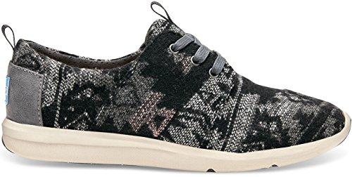 TOMS Womens Del Rey Sneaker Grey Tribal Wool 41