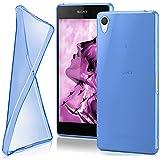 moex Sony Xperia Z2 | Hülle Silikon Transparent Blau Clear Back-Cover TPU Schutzhülle Dünn Handyhülle für Sony Xperia Z2 Case Ultra-Slim Silikonhülle Rückseite