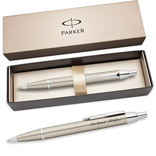 PARKER Kugelschreiber IM mit Edelstahl-Optik C.C. S0856470 mit persönlicher Laser-Gravur