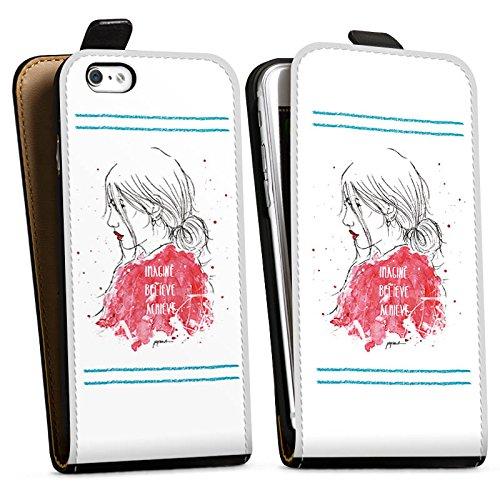 Apple iPhone X Silikon Hülle Case Schutzhülle Comic Frau Zeichnung Downflip Tasche schwarz