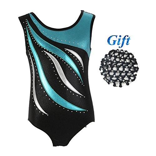 Hougood Turnanzug für Mädchen Ärmellos Leotard für 3-14 Jahre alt Kinder Gymnastik Trikot Kostüm Ballettkleidung Gymnastik Kleidung Turnanzug Ballett Bekleidung (Gymnastik-turnanzug Mädchen)