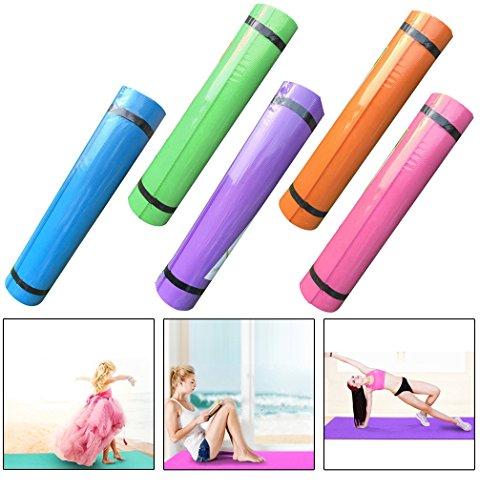 Amcool Weich Yoga Matten Rutschfest Fitness Matte EVA Dick Auflage (5MM Dicke)