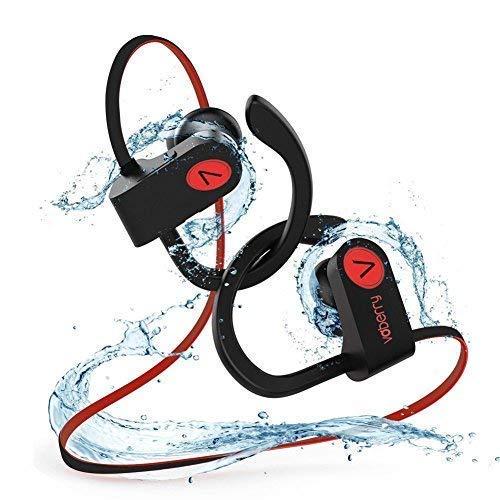 Voberry Bluetooth Kopfhörer in Ear,  IPX7 Wasserdicht Sport Kopfhörer Joggen/Laufen Bluetooth 4.1, Noise Cancellation Ohrhörer mit Mikrofon Drahtloser für iPhone Android Bluetooth Headset Noise Cancellation