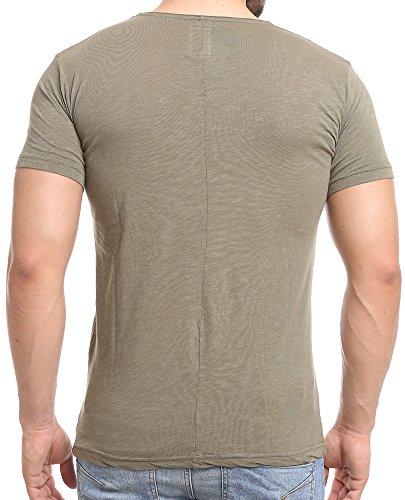 ... Redbridge Herren V-Neck T-Shirt M1171 Khaki ...
