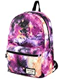 TRENDYMAX Galaxis Muster Schultasche, 42x30x16cm, 20 Liters, Lila