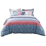 Umi. Essentials – Bunt bedruckte Bettwäsche aus reiner Baumwolle mit zwei Kopfkissenbezügen (200x200+2x50x75cm)