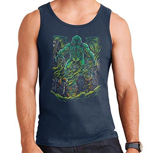 Godbusters Ghostbusters Cthulhu Mythos Men's Vest Navy Blue