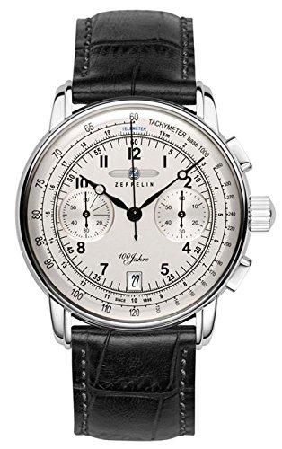 Mens Zeppelin 100 Jahre Chronograph Watch 7674-1